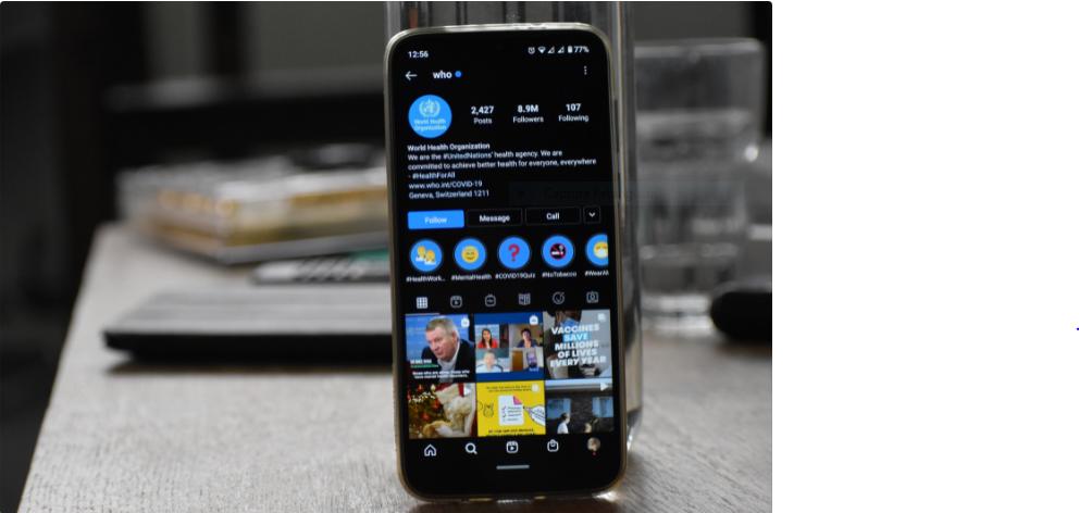 Diferença entre conta pessoal e conta comercial no Instagram